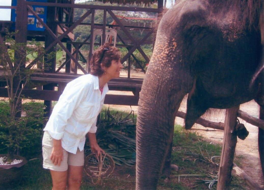 Cindy with Elephant